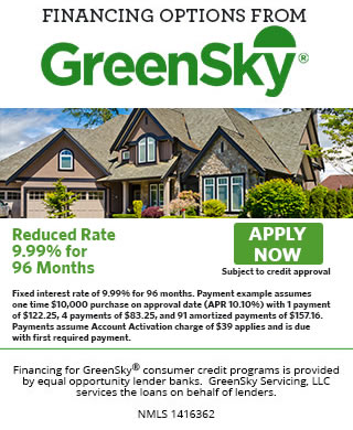 GreenSky Financing Options - Apply Now