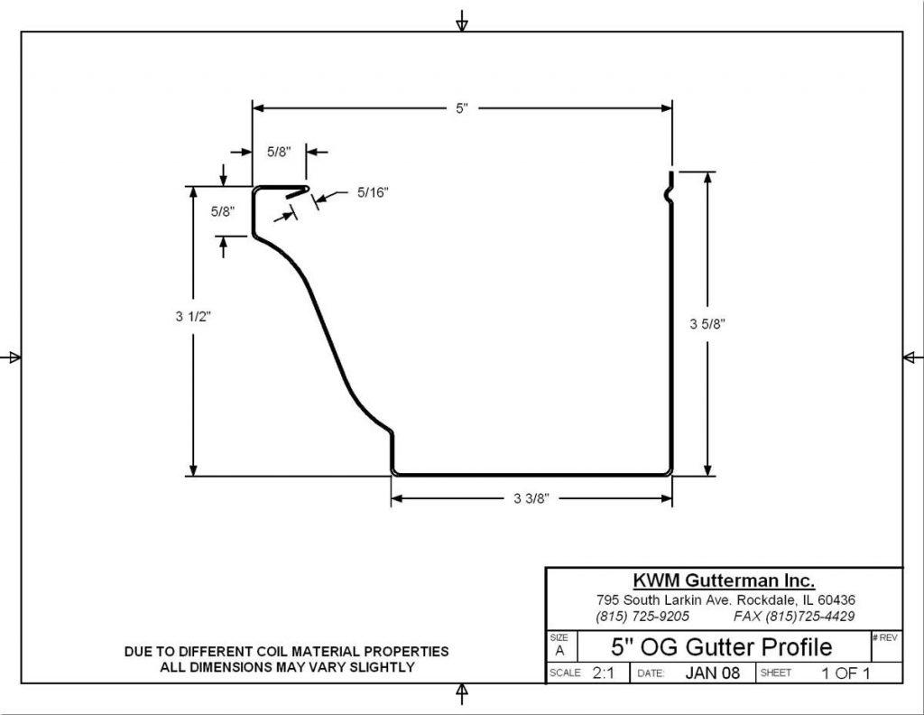 K-Style 5IN Gutter Profile