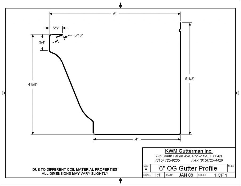 K-Style 6IN Gutter Profile