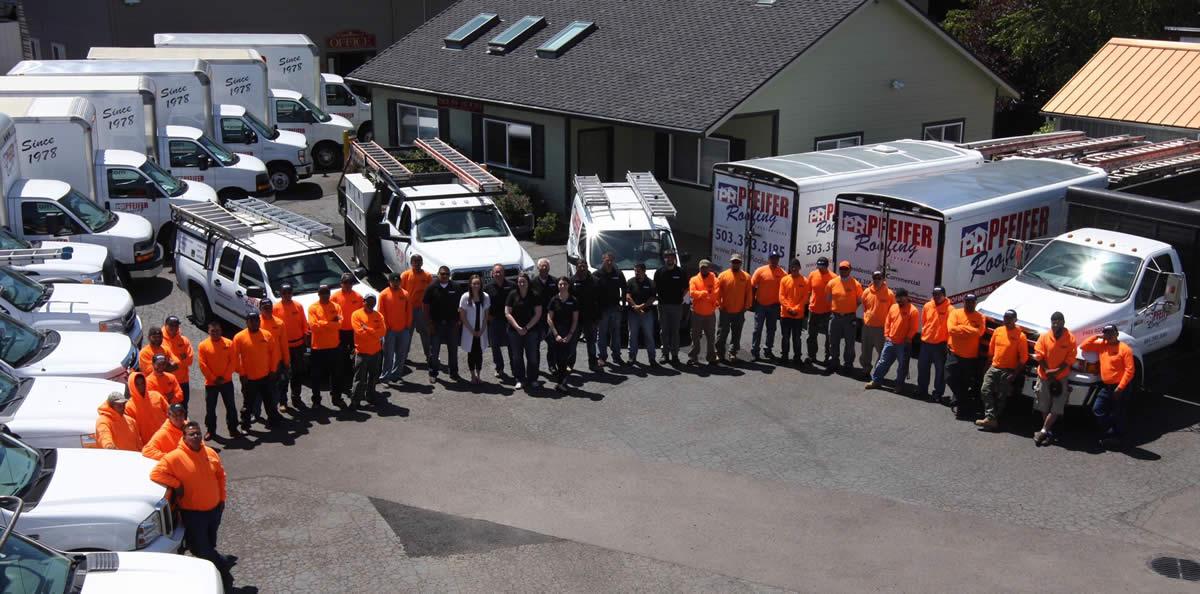 Pfeifer Crew and Trucks