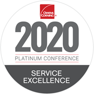 2020 Owens Corning Service Excellence Award